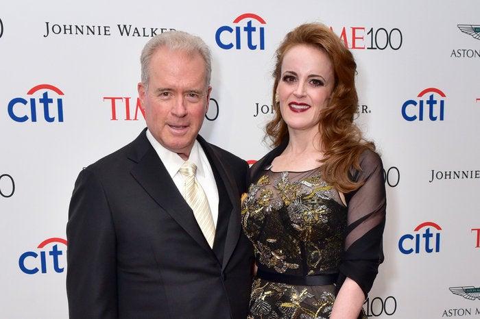 Robert Mercer is pictured next to his daughter, Rebekah Mercer.