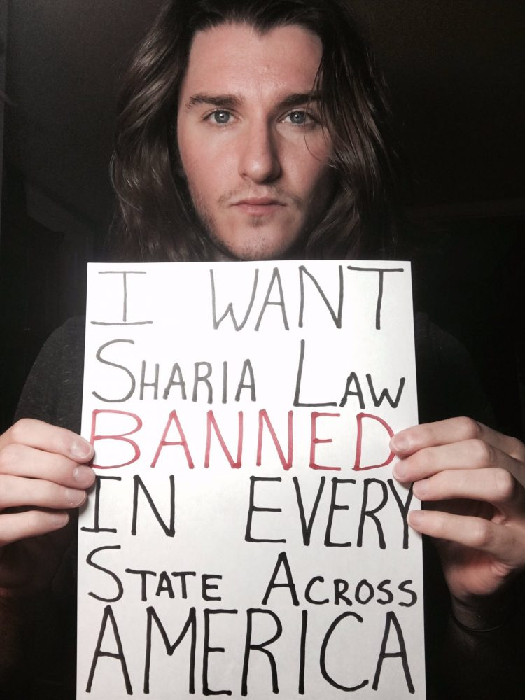 Scott Presler Ryan, the lead organizer for the March Against Sharia to be held on June 10, 2017 in 27 U.S. cities across the country.