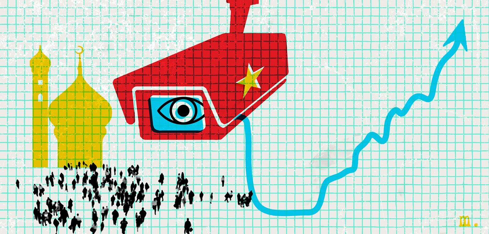 Rights organizations have described the Xinjiang region as a police state as the Chinese government has instituted invasive sureveillance measures including instaling 40,000 facial recognition cameras. Source: Foreing Policy