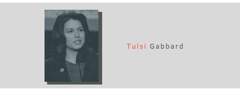 U.S Presidential candidate Tulsi Gabbard photographed at a speaking engagement