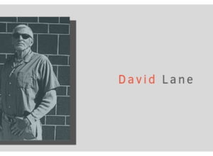 """An image of white supremacist David Lane is placed on a light grey background with the text """"David Lane Factsheet"""""""