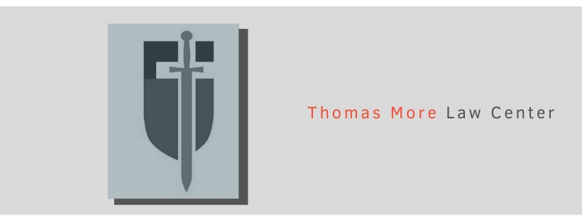 Sword and shield denotes the logo of Thomas More Law Center