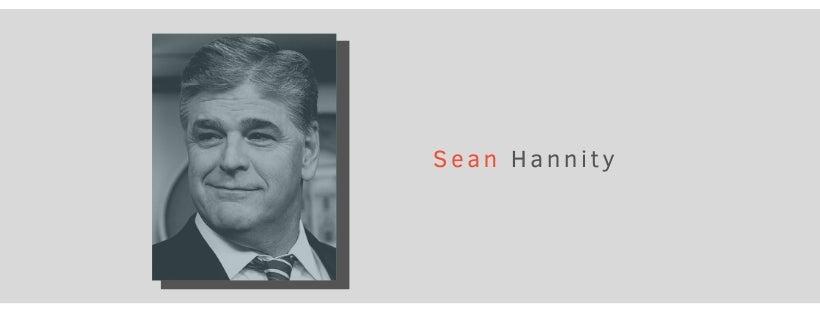 FOX News host Sean Hannity smirks at the camera