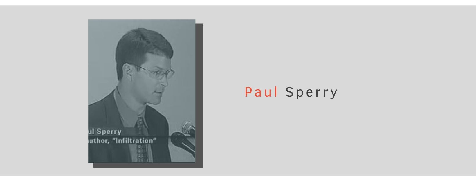 Photo of Paul Sperry, conservative journalist