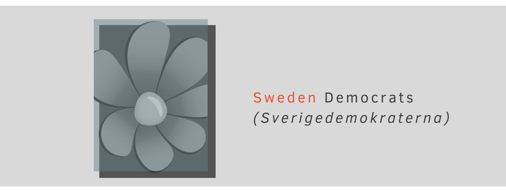 Logo of Sweden Democrats, a Swedish far right populist party