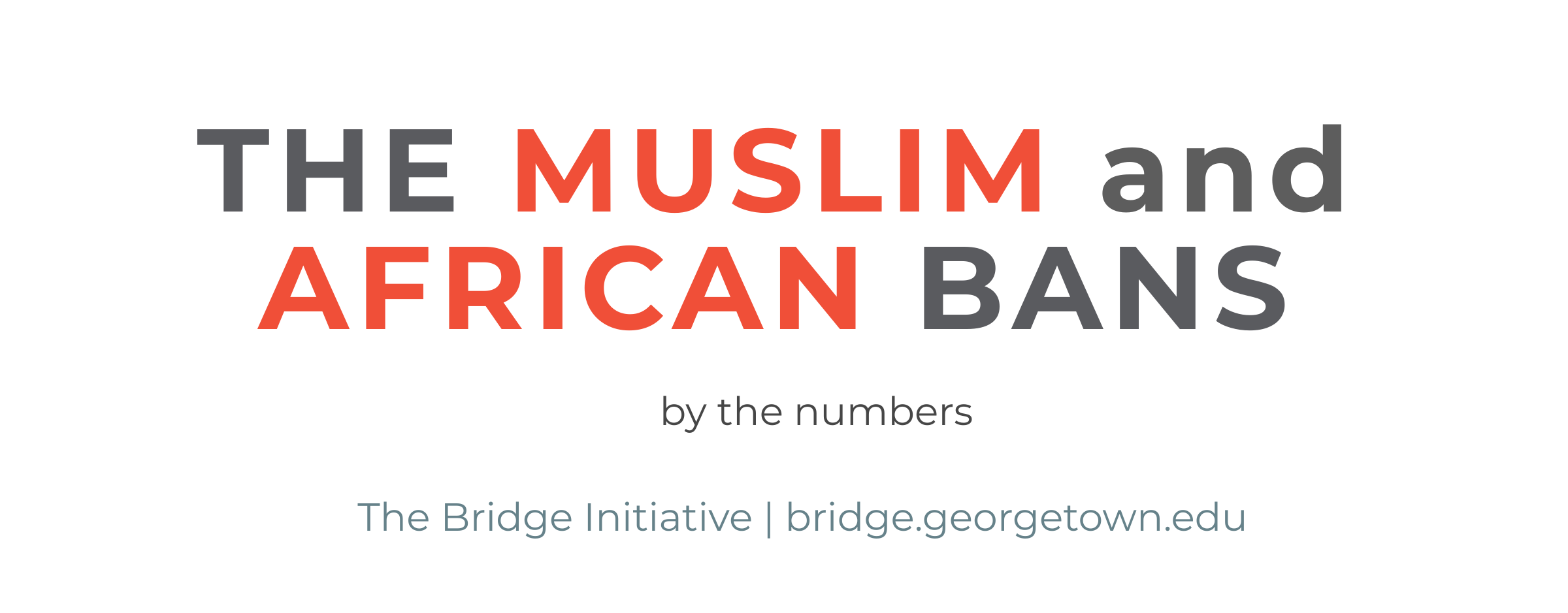 The Muslim and African Bans: by the numbers