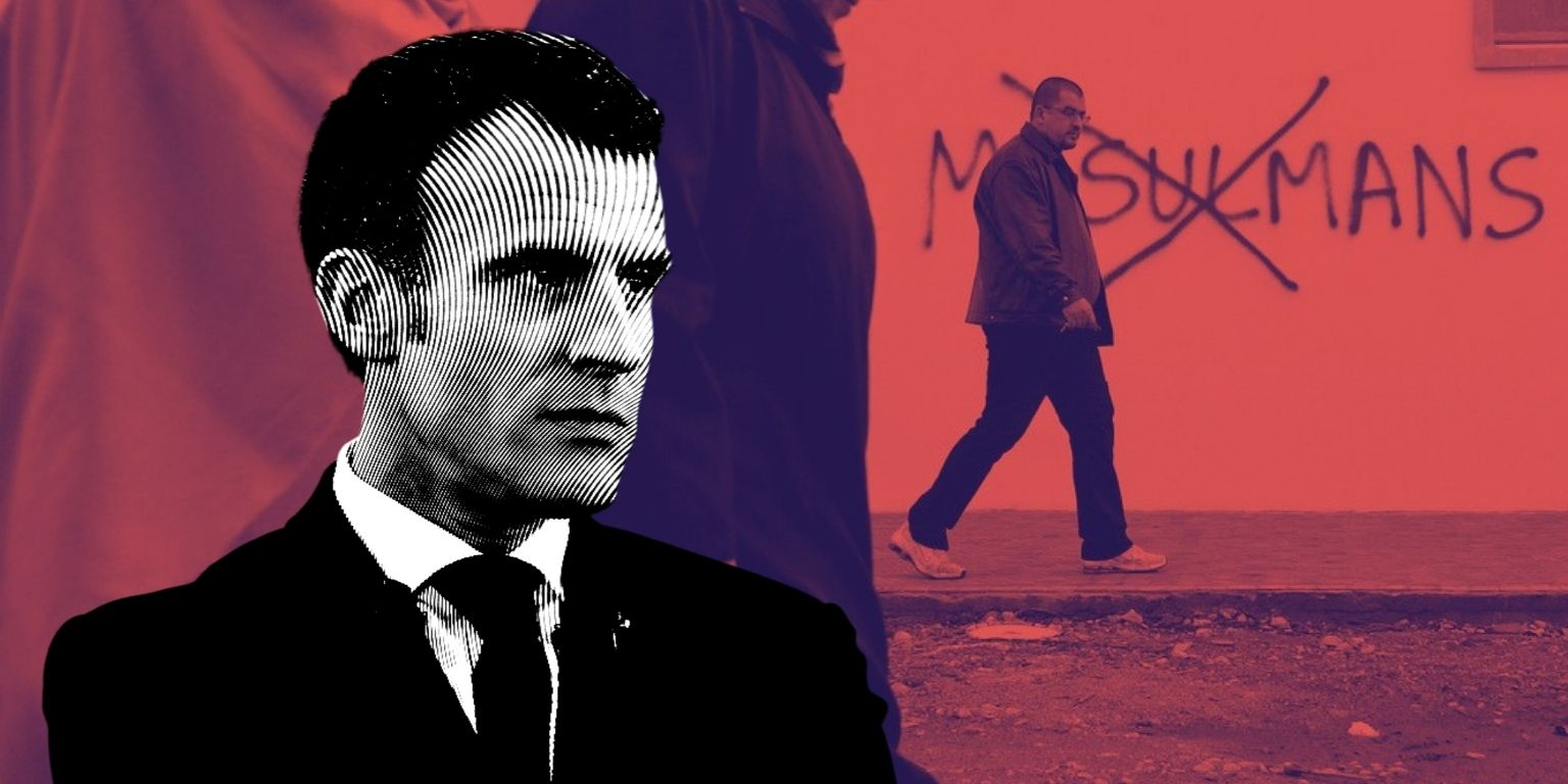 While Macron positions himself as a centrist, he and his government employ the same rhetoric used by the far-right when it comes to Islam and Muslims.